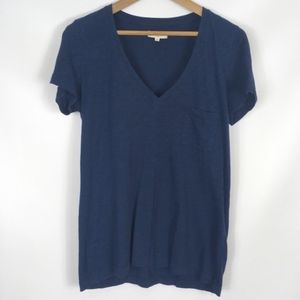 MADEWELL | essential v-neck tee 100% cotton pocket